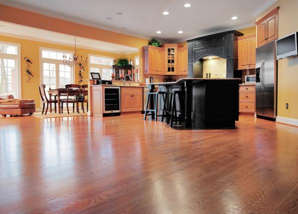 laminate floor in kitchen