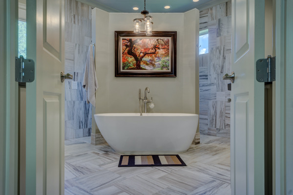 porcelain bathroom floor installation